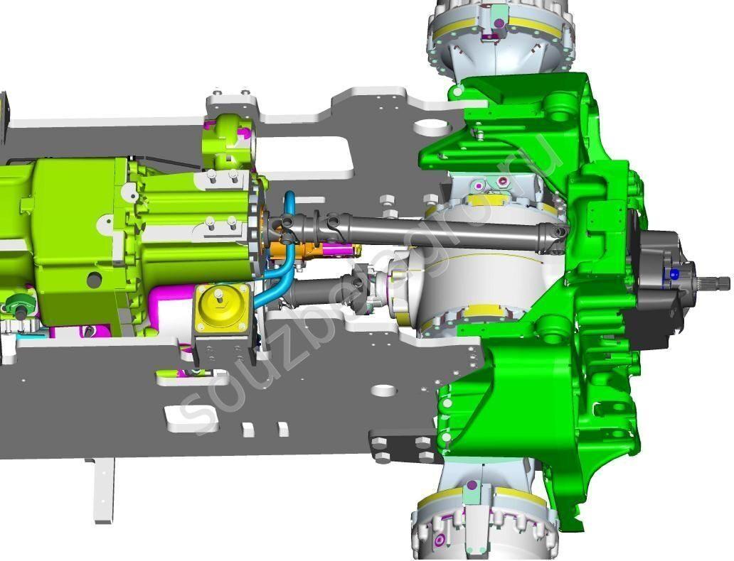 схема агрегатирования трактора с плугом плн-5-35